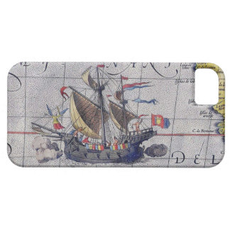 Tall Ship Map of the Pacific Ocean iPhone SE/5/5s Case