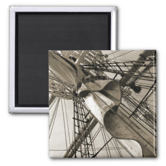 Tall Ship Mast 2 Inch Square Magnet