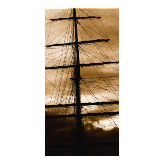 Tall ship mast card