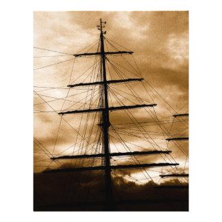 "Tall ship mast 8.5"" x 11"" flyer"