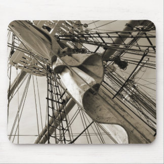 Tall Ship Mast Mouse Pad