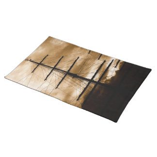 Tall ship mast placemat