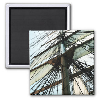 Tall Ship Mast & Sails 2 Inch Square Magnet