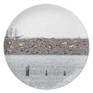 Tall Ship Melamine Plate