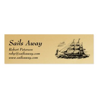 Tall Ship Nautical Business Card Template