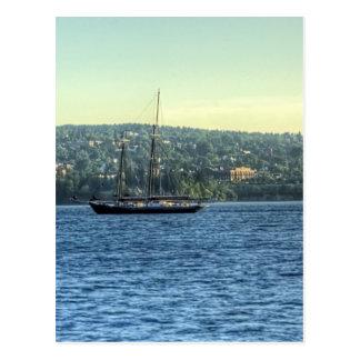 Tall Ship on the Lake Postcard