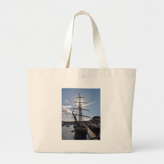 Tall Ship Pelican Of London Large Tote Bag