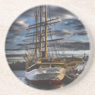 Tall Ship Picton Castle HDR Drink Coaster