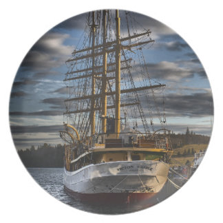 Tall Ship Picton Castle HDR Dinner Plate