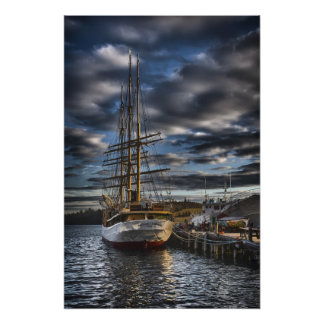 Tall Ship Picton Castle HDR Print