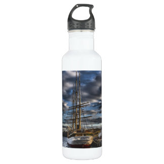 Tall Ship Picton Castle HDR Water Bottle