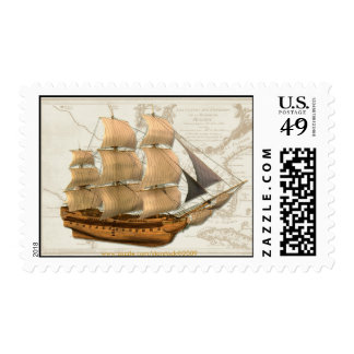 Tall Ship Postage Stamp