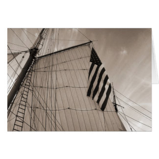 Tall Ship Sail & Flag Stationery Note Card