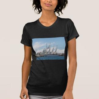 Tall Ship Sailing Out Of Harbor T-Shirt