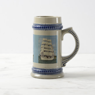 Tall ship -square rigger 18 oz beer stein