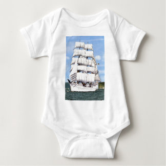 Tall ship -square rigger baby bodysuit