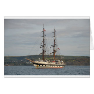 Tall ship Stavros S Niarchos. Card