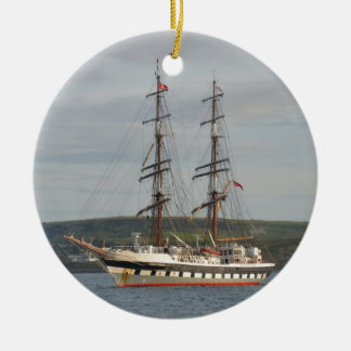 Tall ship Stavros S Niarchos. Ceramic Ornament