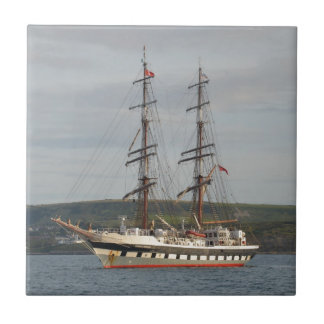 Tall ship Stavros S Niarchos. Ceramic Tile