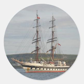 Tall ship Stavros S Niarchos. Classic Round Sticker