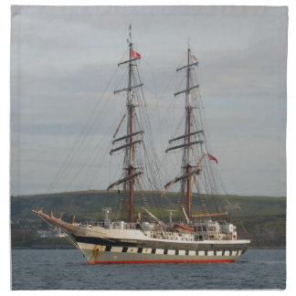 Tall ship Stavros S Niarchos. Cloth Napkin