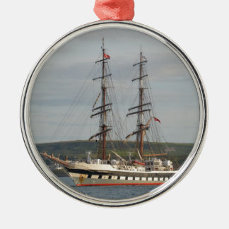 Tall ship Stavros S Niarchos. Metal Ornament
