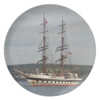 Tall ship Stavros S Niarchos. Plate
