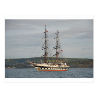Tall ship Stavros S Niarchos. Postcard