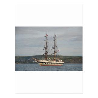 Tall ship Stavros S Niarchos. Postcard