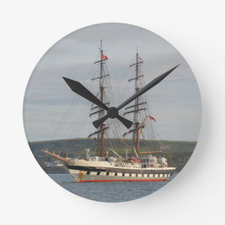 Tall ship Stavros S Niarchos. Round Clock
