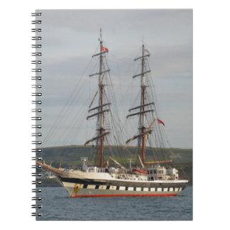 Tall ship Stavros S Niarchos. Spiral Notebook