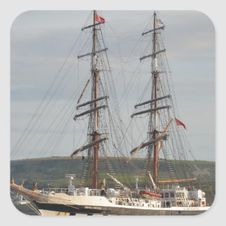 Tall ship Stavros S Niarchos. Square Sticker