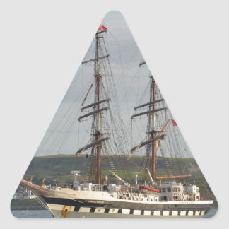 Tall ship Stavros S Niarchos. Triangle Sticker