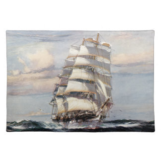 Tall Ship Thessalus Cloth Placemat