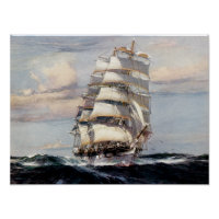 Tall Ship Thessalus Poster