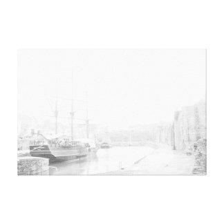 TALL SHIPS AT CHARLESTOWN CORNWALL CANVAS