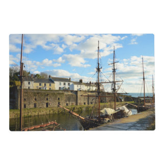 Tall Ships Charlestown Harbour Cornwall England Placemat