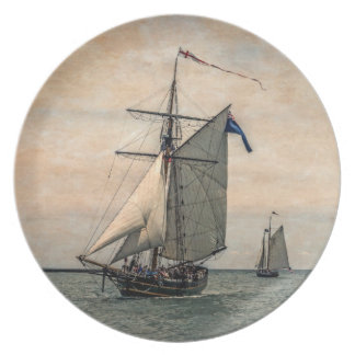 Tall Ships Festival, Digitally Altered Dinner Plate