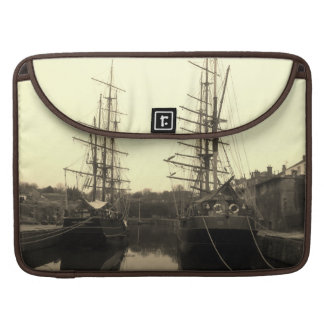 Tall Ships in Charlestown Harbour Cornwall MacBook Pro Sleeve