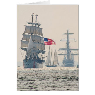 Tall Ships Leaving Charleston Harbor Card