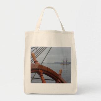 Tall Ships Passing Tote Bag
