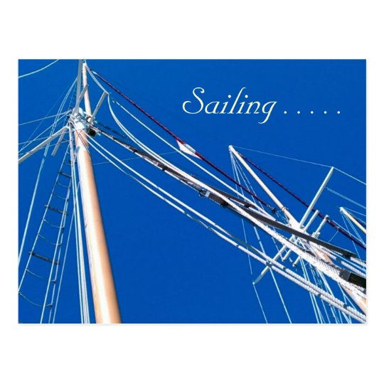 Tall Ships, Sailing . . . . . Postcard