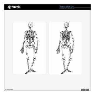 Tall Skeleton Kindle Fire Skin