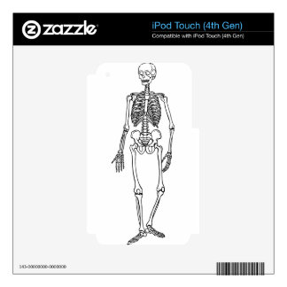 Tall Skeleton Skin For iPod Touch 4G