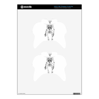 Tall Skeleton Xbox 360 Controller Decal