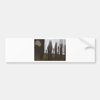 Tall Soldiers black and white surrealism Bumper Stickers