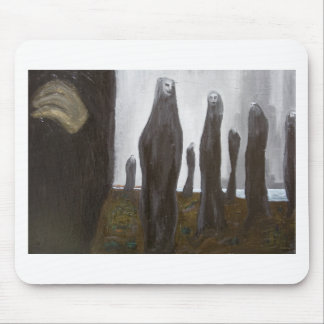 Tall Soldiers (black and white surrealism) Mouse Pad