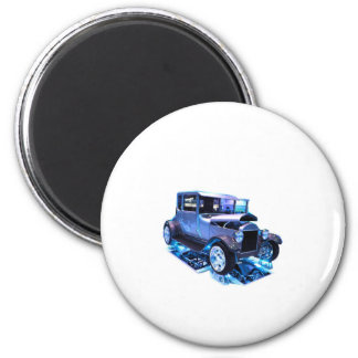 Tall T in blue 2 Inch Round Magnet