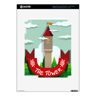 Tall tower with single window iPad 3 decals