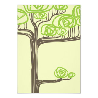 Tall Tree Illustration Card